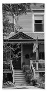 Front Porch Usa Black And White Beach Towel
