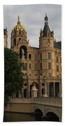 Front View Of Palace Schwerin Beach Towel