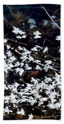 Frost Flakes On Ice - 10 Beach Towel