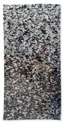 Frost Flakes On Ice - 14 Beach Towel