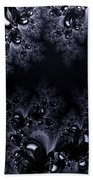 Frost In The Moonlight Fractal Beach Towel