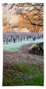 Frost In The Valley Beach Towel by Bill Gallagher