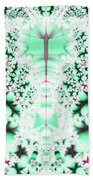 Frost On The Grass Fractal Beach Towel