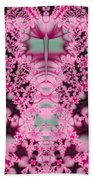 Frost On The Roses Fractal Beach Towel