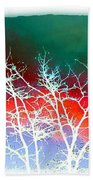 Frost Shrouded Tree Beach Towel