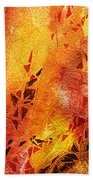 Frosted Fire IIi Beach Towel
