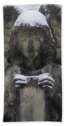 Frosted Stone Angel Beach Towel