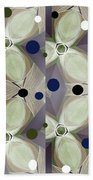 Frosted Green Flower Beach Towel