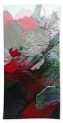 Frosted Hibiscus 2 Beach Towel