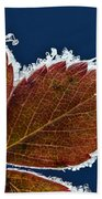 Frosted Leaf Beach Towel