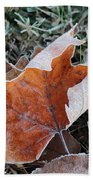 Frosted Leafs Beach Towel