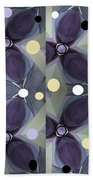 Frosted Purple Flower Beach Towel