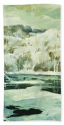 Frosted Trees Beach Towel by Jonas Lie