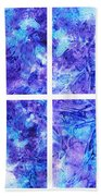 Frosted Window Abstract Collage Beach Towel