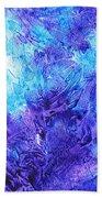 Frosted Window Abstract IIi Beach Towel