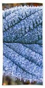 Frosty Leaf Beach Towel