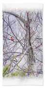 Frosty Morning Song Beach Towel