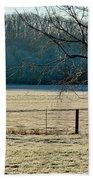 Frosty Morning Winter Landscape Beach Towel