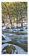 Frosty River Beach Towel