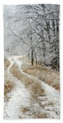Frosty Trail Beach Towel