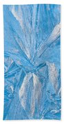 Frosty Window Art Beach Towel