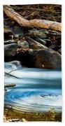 Frothy Swirls Beach Towel