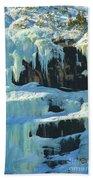 Frozen Artwork Beach Towel