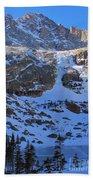 Frozen Black Lake Beach Towel