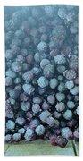 Frozen Blueberries Beach Sheet