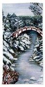 Frozen Brook - Winter - Bridge Beach Towel