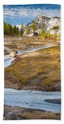 Frozen Enchantments Creek Beach Towel