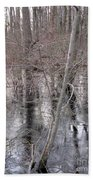 Frozen Forest Floor Beach Towel