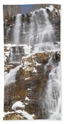 Frozen Falls From The Bridge Beach Towel