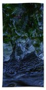 Icicle Garden  Beach Towel