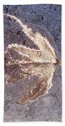 Frozen Leaf Beach Towel
