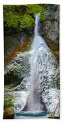Frozen Marymere Falls Beach Towel