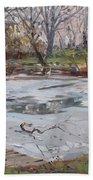 Frozen Pond Beach Towel