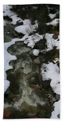 Frozen Stream Beach Towel