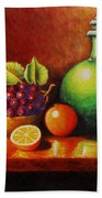 Fruit And Jug Beach Towel
