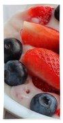Fruit And Yogurt Snack 2 Beach Towel by Barbara Griffin
