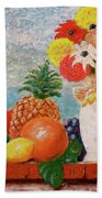 Fruit Flowers And Castle Beach Towel