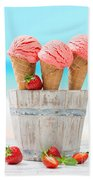 Fruit Ice Cream Beach Towel
