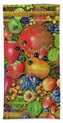 Fruit In Bamboo Box Beach Towel