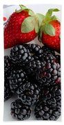 Fruit Iv - Strawberries - Blackberries Beach Towel