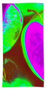 Fruitilicious - Lime And Green Apples - Photopower 1817 Beach Towel