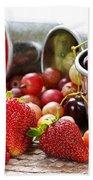 Fruits And Berries Beach Towel by Elena Elisseeva