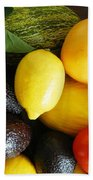 Fruits  And Vegetables  Beach Towel