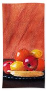 Fruits And Wine Beach Towel