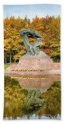 Fryderyk Chopin Statue In Warsaw Beach Towel