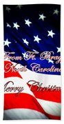 Ft. Bragg - Christmas Beach Towel